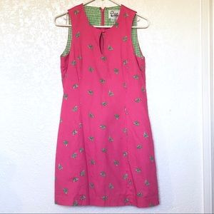 Lilly Pulitzer pink bumblebee cotton dress size 6